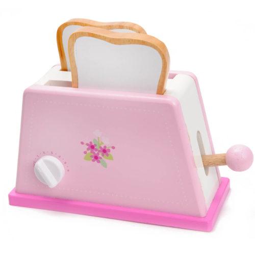 roze houten speelgoed broodrooster Sassefras Meisjes Speelgoed