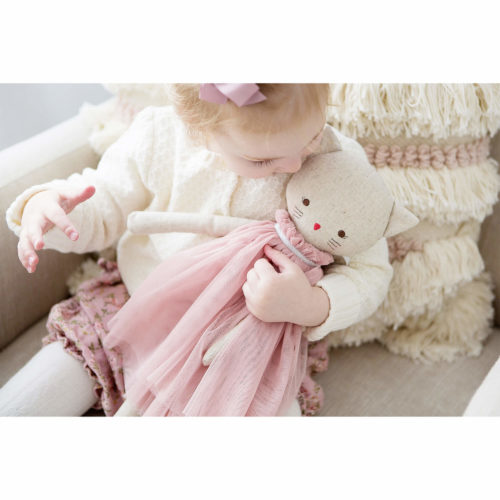 Alimrose AURELIE CAT DOLL 48CM BLUSH