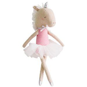 Yvette Unicorn pink and silver Sassefras Meisjes Speelgoed