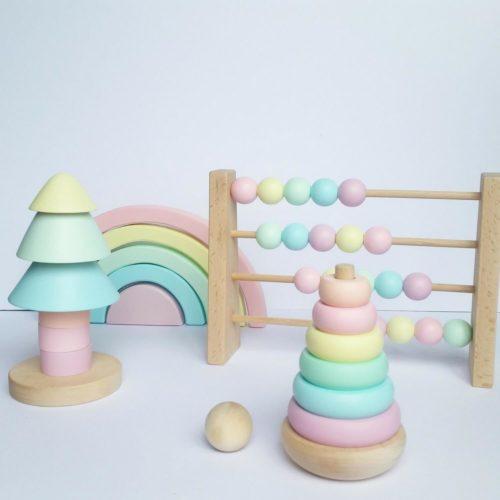 telraam, regenboog en stapeltoren Sassefras Meisjes Speelgoed