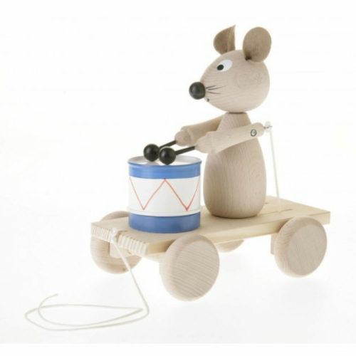 trekfiguur muis met trommel