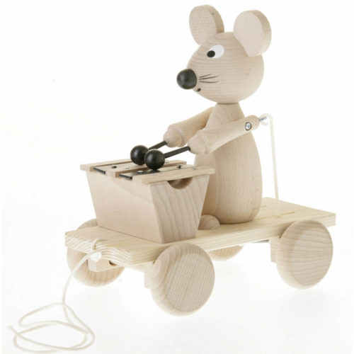 trekfiguur muis met xylofoon