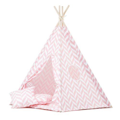 tipi tent met roze chevron print Sassefras Meisjes Speelgoed