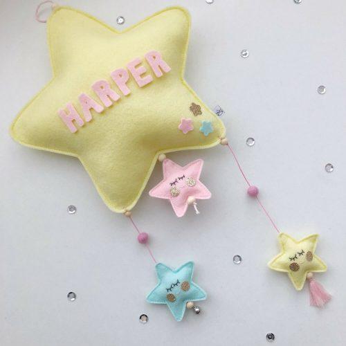 vilten naam mobiel ster geel scheef Sassefras Meisjes Speelgoed
