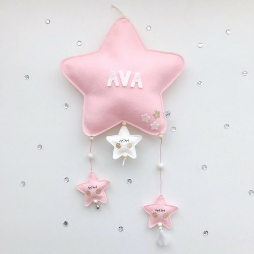 vilten naam mobiel ster roze Sassefras Meisjes Speelgoed