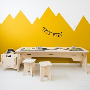 houten multiplex speeltafel wegen Sassefras Meisjes Speelgoed
