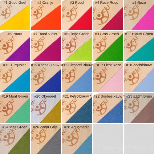 we rock balansborden kleurenkaart voor vilt Sassefras Meisjes Speelgoed