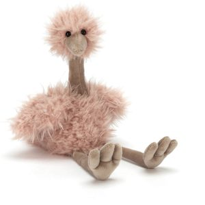 bonbon knuffel struisvogel van jellycat voorkant Sassefras Meisjes Speelgoed