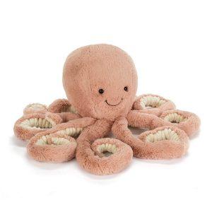 octopus knuffel van Jellycat Odell 14 cm voorkant Sassefras Meisjes Speelgoed