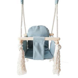 houten babyschommel met bunny oren blauw Sassefras Meisjes Speelgoed